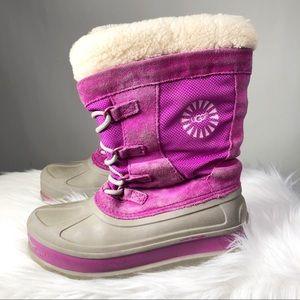 Ugg Australia Bobbey Cactus Flower Snow Boots Sz 3